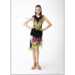 Блуза танцевальная №368 (бахрома спектр)