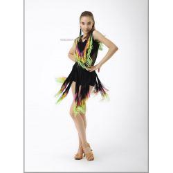 Юбка для танцев №468 (бахрома спектр)