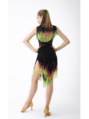 Спідниця для танців №468 (бахрома спектр)