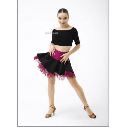 Юбка для танцев №470 (цвет. бахрома)