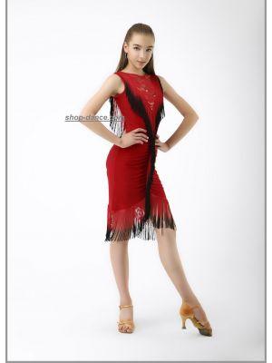 Сукня для латини №226/1 (гіпюр)