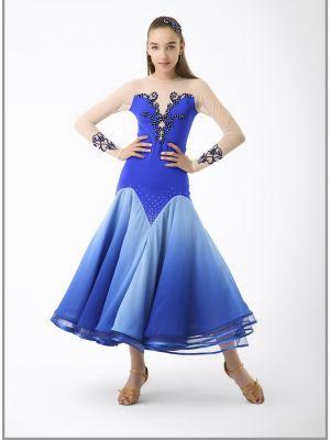Платье для стандарта № 745/1 (с камнями)