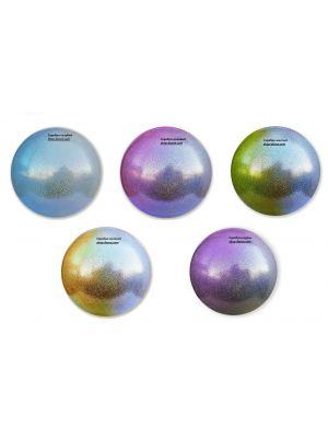 Мяч гимнастический Glitter HIGH VISION - С ПЕРЕХОДОМ ЦВЕТА  Pastorelli, 18 см