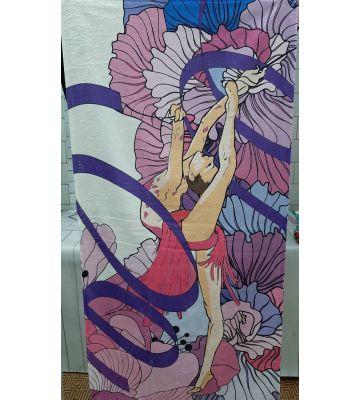 Полотенце с гимнасткой