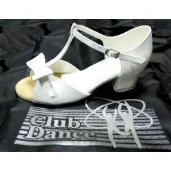 Танцювальні туфлі для дівчат Club Dance: Б-28а білий лак