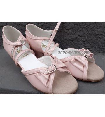 Танцевальные туфли девачковые Club Dance: Б-4 розовый лак