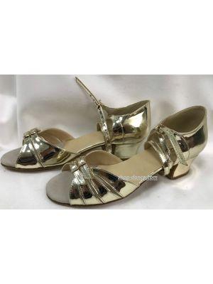 Туфлі для бальних танців на дівчинку Club Dance: Б-2 дзеркальне золото