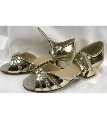 Туфли для бальных танцев на девочку Club Dance: Б-2 зеркальное золото