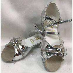 Туфлі для бальних танців на дівчинку Club Dance: Б-2 дзеркальне срібло