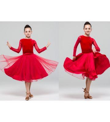 Плаття для бальних танців бейсик №880 (спідниця двостороння)