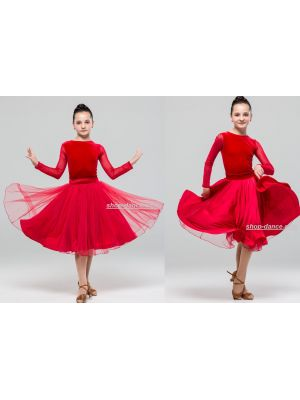 Платье для бальных танцев №880 (юбка двухсторонняя)