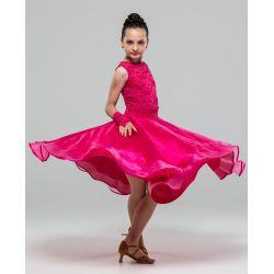 Плаття для бальних танців №883 (набивний гіпюр)