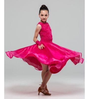 Плаття для бальних танців №883 (набивний гипюр)