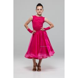Платье для бальных танцев №883 (набивной гипюр)