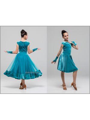 Сукня для бальних танців №886 (з 2-ма спідницями)