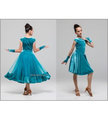 Платье для бальных танцев с двумя юбками №886