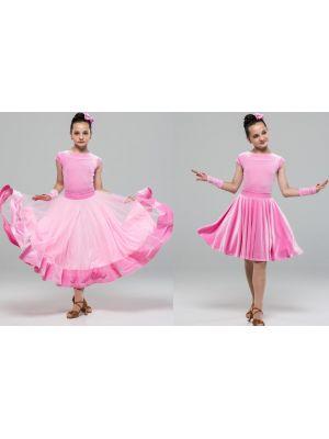 Плаття для бальних танців з двома спідницями №886