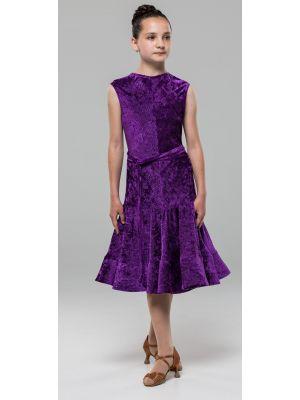 Сукня для бальних танців №890 (велюр рубчик)