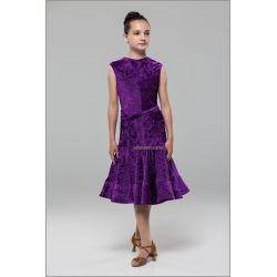 Платье для бальных танцев №890 (велюр рубчик)
