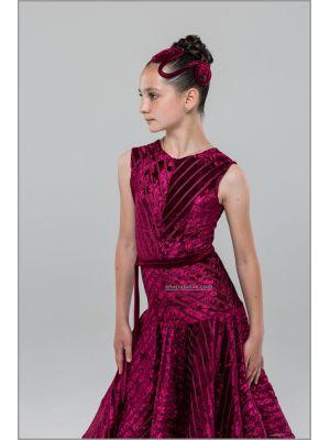 Сукня для бальних танців №890/1 (велюрова смуга)