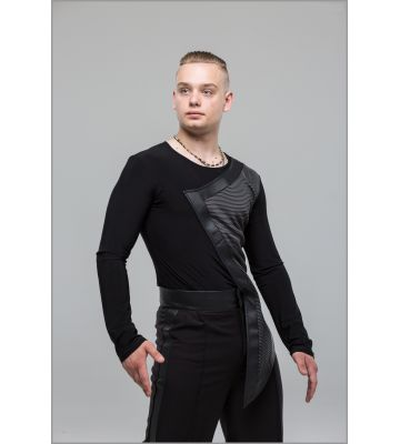 Брюки для бальных танцев мужские №994 лампас - кожзам