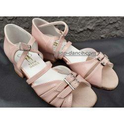 Туфли для бальных танцев на девочку Club Dance: Б-2 розовый лак