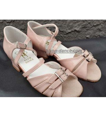 Туфли для бальных танцев на девочку Club Dance: Б-2 розовый лак (под заказ)
