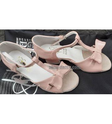 Танцевальные туфли девачковые Club Dance: Б-28а розовый лак