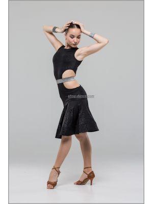 Платье для латины № 233/1 (масло принт)