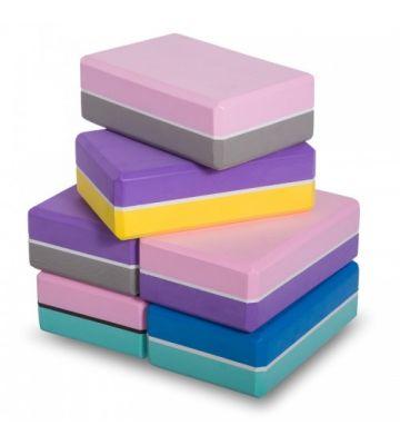 Йога-блок двухцветный