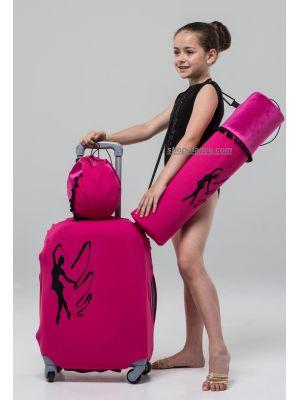 Чохол для валізи з гімнасткою