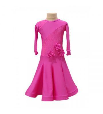 Рейтинговое платье для бальных танцев (бейсик)  515