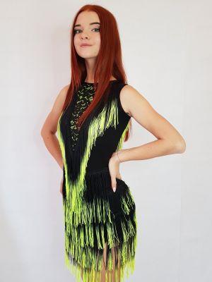 Сукня для танців бахрома спектр № 214 (гіпюр)