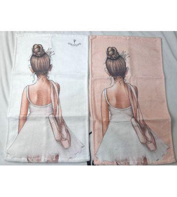 Полотенце для рук, лица 30*50  с балериной и пуантами