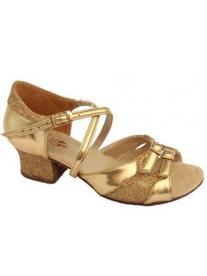 Взуття для дівчаток Club Dance: Б-3 золото + блискітки