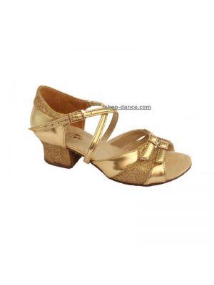 Обувь для девочек Club Dance: Б-3 золото+блестки