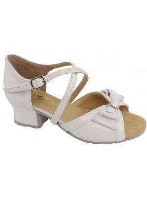 Танцювальні туфлі для дівчат Club Dance: Б-4 білий лак