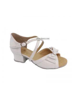 Танцювальні туфлі девачковие Club Dance: Б-4 білий лак