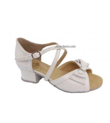 Танцевальные туфли девачковые Club Dance: Б-4 белый лак