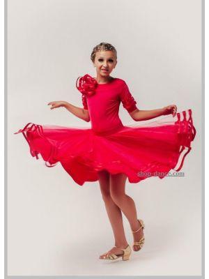 Платье для танцев бейсик № 830