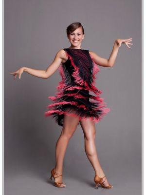 Сарафан для танцев бахрома спектр № 214