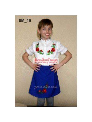 Национальный вышитый костюм для девочки 8м-16