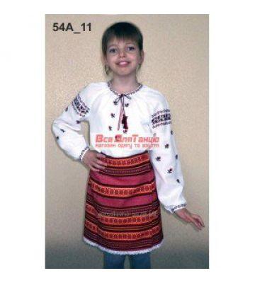 Национальный вышитый костюм для девочки 54а-11