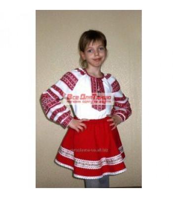 Национальный вышитый костюм для девочки 11